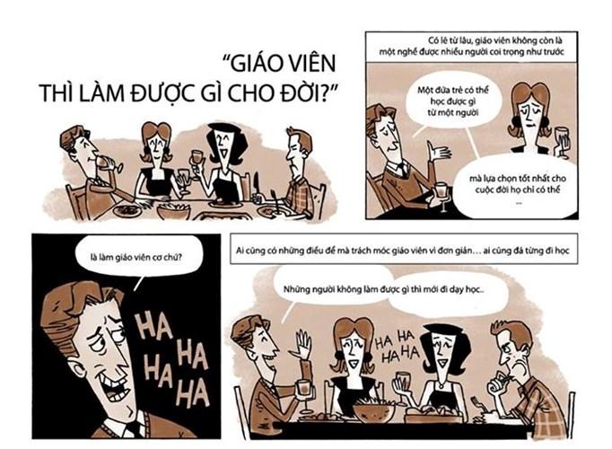 Bộ truyện tranh ý nghĩa ngày 20/11: Nghề giáo - xưa thì cao quý, nay bạc như vôi!